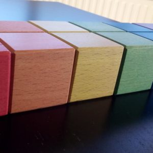 Wooden Montessori blocks very useful for developing children's creativity