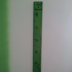 I have mounted the giant ruler, on the wall