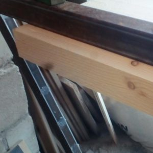 the two fir wood planks are perfectly glued