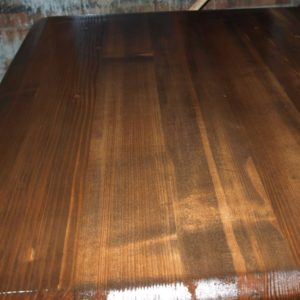 although it seems to be shiny and uneven, the varnish will dry almost perfect, with a low degree of gloss