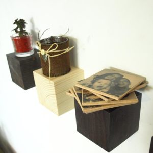 pinewood shelves with hidden wall mounting
