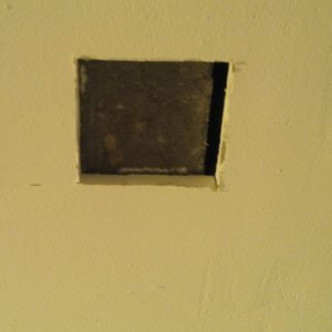 for a sturdy fitting i had to cut the drywall panel