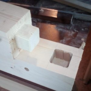 the rack was assembled using a mortise and tenon joint