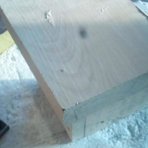 for the drilling jig we used a 4 cm thick piece of wood scrap