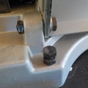 infeed and outfeed table hinges adjustment