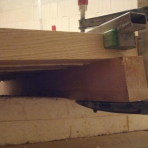 when gluing, we used a beech wood plank to get a flat tabletop