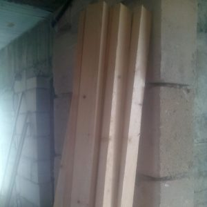 the fir wood boards that are necessary for the gate