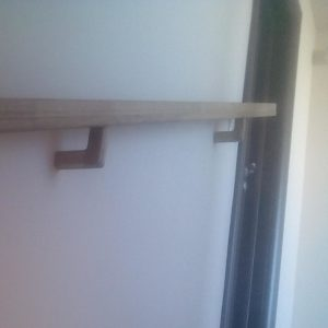 the brackets are very useful for holding the railing handrail directly on the wall