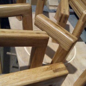 the wooden handrail wall brackets