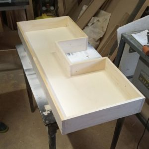I made the bathroom furniture drawers from 8 mm thick plywood and 18 mm fir wood