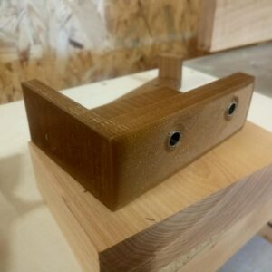 the 3d printed drill jigs for drilling holes into the end grain of the board