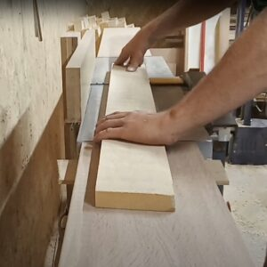 flattening one face of the ash wood board