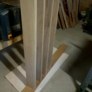 the dowel jigs work great as the four boards are perfectly positioned