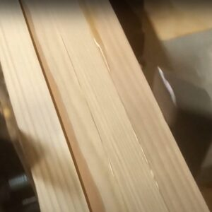 the DIY laminated beam is very well tightened