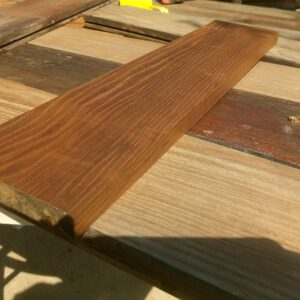 after planing and sanding the scrap thermally treated ash wood board, it looks great