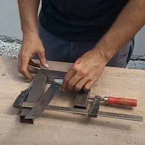 trying to make the double c clamp as square as possible