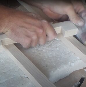 we manual sanded of our simple furniture pulls