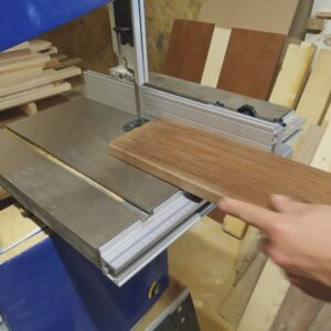 we cut the thermally treated ash wood board in order to get one strip needed for the trays