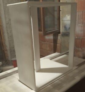 applying the white polyurethane paint