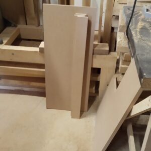 the MDF boards needed for the drawers