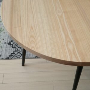 the ash wood round kitchen tabletop