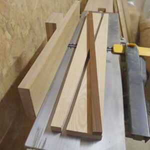 the three ash wood planks needed to be glued