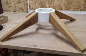 our new wooden Christmas tree stand