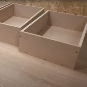 we built the drawers for the floating nightstands out of 12 mm thickness MDF boards