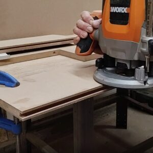after I turned back the MDF board, I routed the other half of the channel needed for joining the two MDF boards on edges