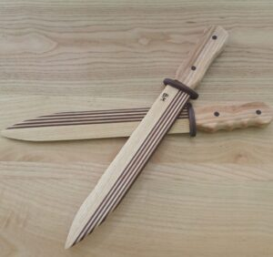 our DIY project is done, so our kids can enjoy playing with the wooden knives