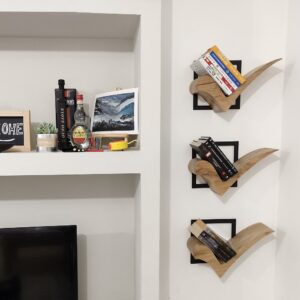 these are our small floating bookshelves