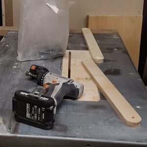these are two ash wood boards ready to be connected with 6 mm hex screws