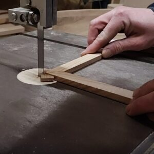 I cut the excess using the bandsaw
