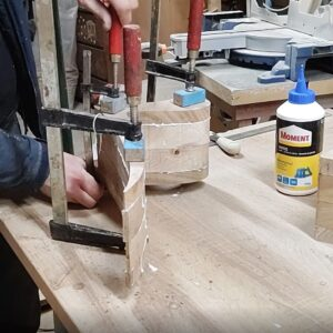 i tightened the floating bookshelves using only three F clamps