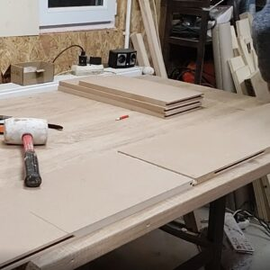 this is the new MDF boards joint on edges, after replacing the MDF strip with the plywood strip