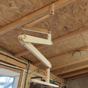 I built the ceiling work light to be adjustable on all the directions