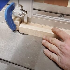 this is the way I used the block of wood to make repetitive cuts into the ends of the laminated wood boards