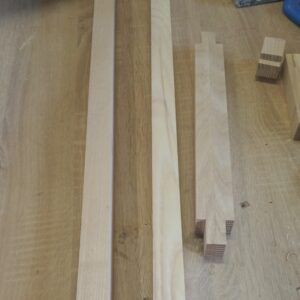 these are the cutouts made into the ends of the shorter pieces of laminated wood used for the folding towel rack