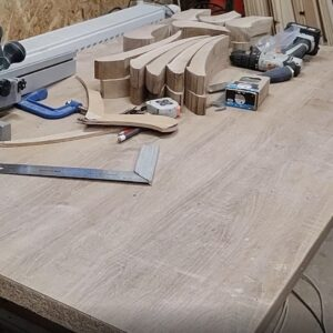 these are the small pieces of oak wood needed for the center layers of the floating shelves