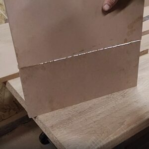 the two MDF boards were very well joined on their edges using this method