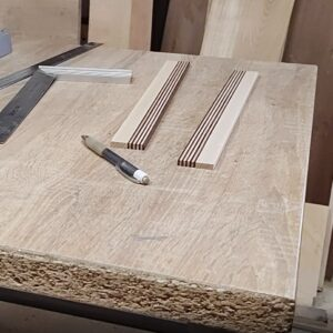 these are the two laminated ash wood boards used for building the diy wooden knives