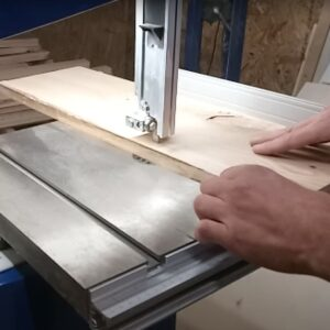 we cut the boards to the right width to build the simple drawer fronts