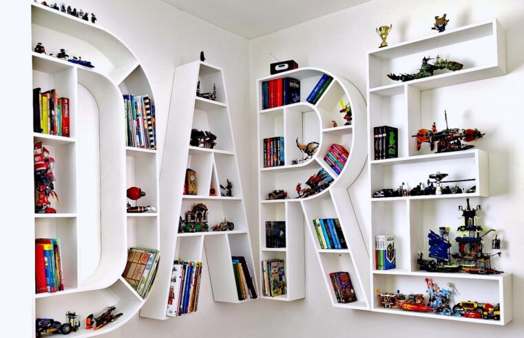 a creative way to organize books and toys in the same time